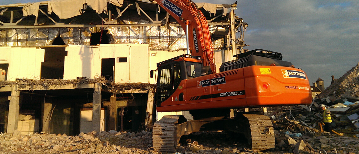 muck  services wiltshire matthews group specialist  demolition earthworks